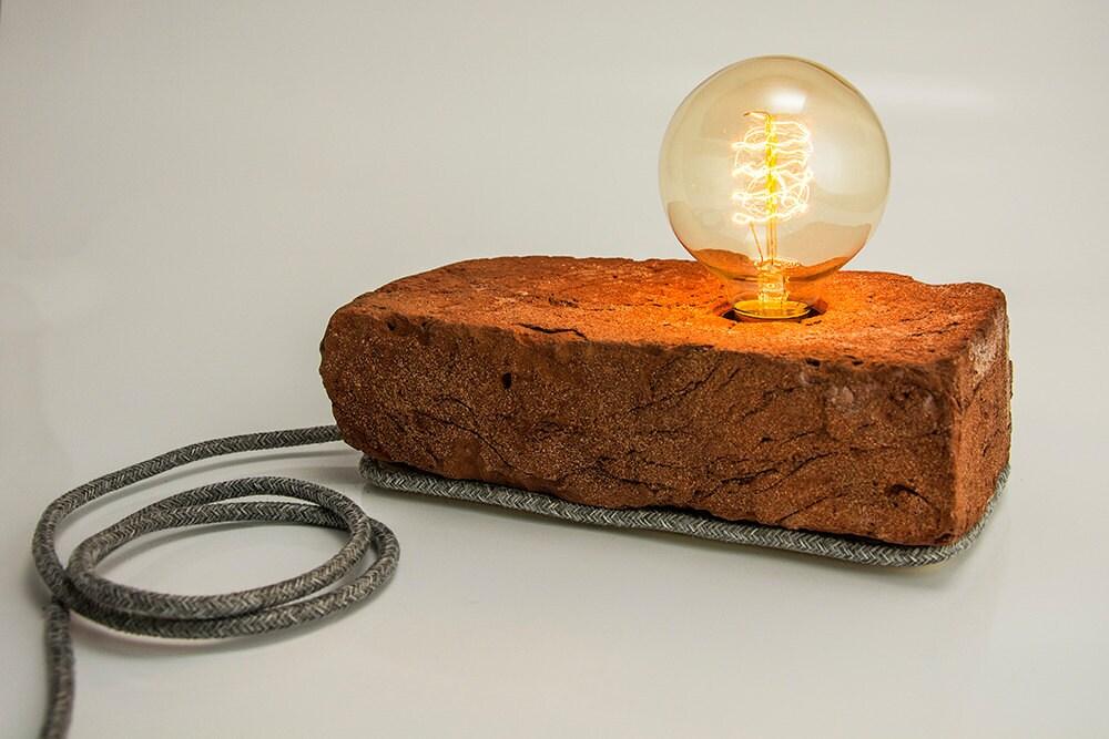 Lampe brique lampe de table de bureau de chevet for Lampe de chevet anglais