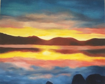 Original Landcape Oil Painting on Canvas - Ready to Hang - Hand Painted