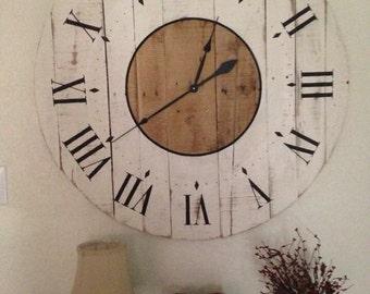 Clock- Handmade distressed wooden clocks-
