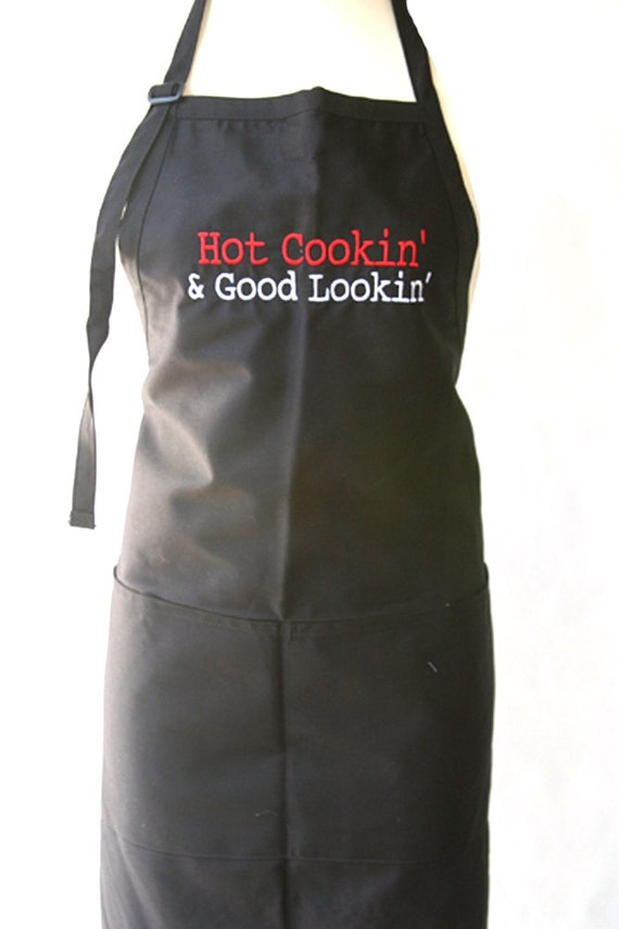 "Hot Cookin' & Good Lookin"" (Adult Apron)"