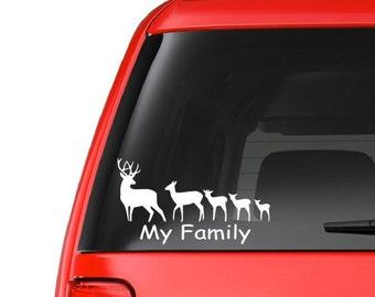 Deer Family (F16) Vinyl Decal Sticker Car/Truck Laptop/Netbook Window