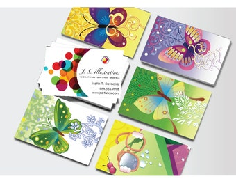 Custom Designed 16PT Silk Laminated Multiple Design Business Cards