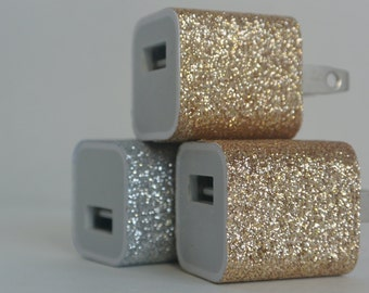 Glitter USB Wall Outlet Adaptor for iPhone