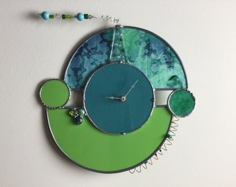 Funky stained glass clock