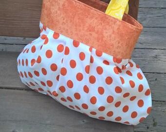 Orange Polka Dots Project Bag