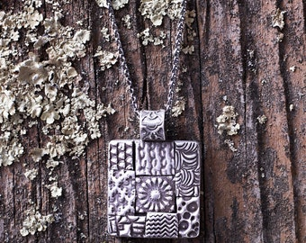 Fine Silver Mosaic Necklace - Jewelry With Texture