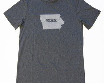 Iowa Mixtape Tshirt, Screenprinted Tshirt