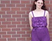 frilly purple romper pajamas