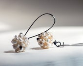 Pearl Cluster Ball Drop Earring