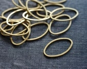 Simple Ovals 26x16mm - Raw Brass - 18pcs - Raw Brass Hoops, Brass Circle Connectors, Brass Rings