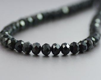 Simple and Classic Black Crystal Necklace