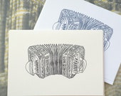 Concertina Illustration carte de Note