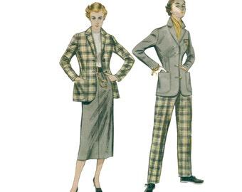 50s Tailored Jacket pattern Simplicity Designers Pattern vintage 34-28-37 Pencil Skirt pattern simplicity 339 simplicity b339