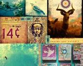 INSTANT DOWNLOAD - Art Journal Digital Collage Sheet - Buddha Nature