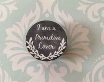 needle minder Primitive Lover chalk art style needleminder magnetized needle holder