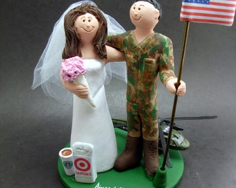 pilot flight attendant wedding cake toppers air wedding etsy 18522