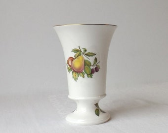 Spode Blenheim Spill Vase, Fruit Motif, Vintage Bone China, Made in England