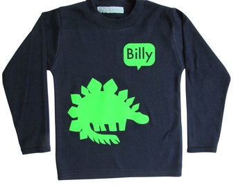 Personalised Dinosaur T shirt|boy gift|girl gift|dinosaur t shirt|dinosaur top|personalised t shirt