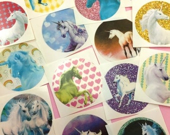 Cute UNICORN Stickers Set