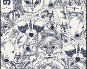 Menagerie Onyx from the Indian Summer Collection by Sarah Watson - Art Gallery Fabrics - Premium Cotton Quilting Fabric - One Yard