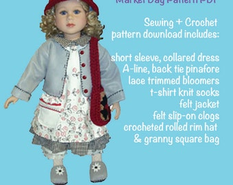 "My Twinn Pattern - complete outfit sewing PDF - 23"" My Twinn doll clothes"