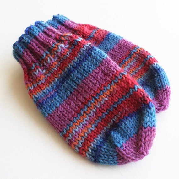 Baby Mittens. Thumbless Mittens. Knit Winter by BarkingDogDesigns