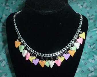 Candy Heart Charms Necklace - V125
