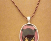 Catwoman recycled comic book pendant