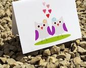 Gay Owl Love Valentine or Wedding Card