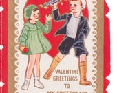 1920s My Sweetheart Vintage Valentine, Illustrations front back and inside
