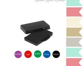 JLMould Rubber Ink Pad for your Rubber Stamps Permanent Trodat Dye  - Choose the Color and Size
