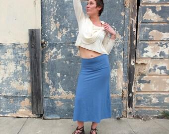 ORGANIC Stretchy Simplicity Below Knee Skirt (light hemp/organic cotton Lycra) : - organic skirt