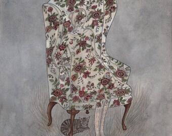 Floral Chair - Print