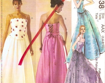 Grad or Bride tops skirts Evening elegance sewing pattern McCalls 3538 Sz 4 to 10 UNCUT