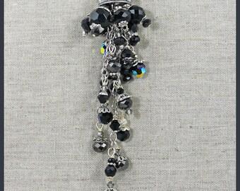 Thimble Black Pendant Necklace