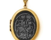 Chalkboard Art Locket Necklace - Song Of Solomon - I Have Found The One Whom My Soul Loves