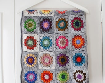 Petite Granny Square Blanket No 4