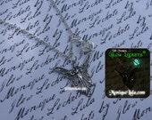 Silver Fairy Wisp Glow Locket Orb Pendant Necklace