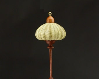 Hanging Ornament- Green Sea Urchin & Walnut (OR57)