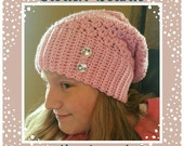 Slouch Beanie with Diamond Gems - Pick Your Color