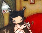 Piano Print Art Girl Animal Bird Rabbit Mouse Critter Dancing Wall Art