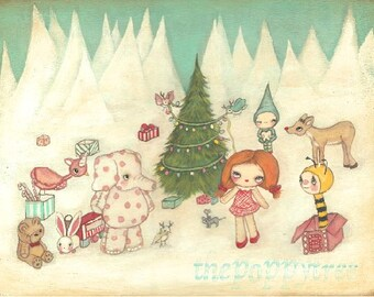 Misfit Print Christmas The Island Misfit Toys Holiday Wall Art Children ---Cute Misfit Things