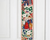 Vintage Swedish Folkloric Wall Hanging 60s or 70s