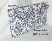 Navy Blue Clutch - Bridesmaid Clutch - SALE - Envelope Clutch - Premier Prints- Madison Navy Blue /Bridesmaid Gift Idea / Birthday Gift