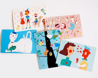 springtime   5 postcards