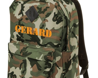 Personalized Backpack Camo Neon Monogrammed School Bookbag