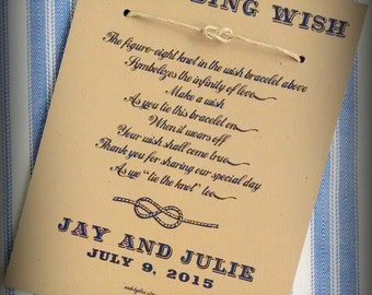 Lasso of Love - A Country Western Wedding Wish - Infinity Knot Wish Bracelet Wedding Favor Custom Made for You