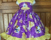 Molly Dress Beauty and the Beast fabric