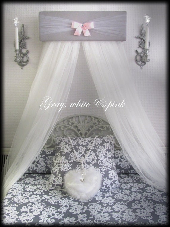 Princess Bed Canopy Crown Pelmet Upholstered By Sozoeyboutique