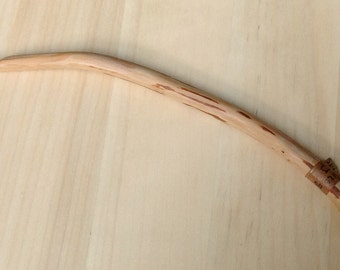 Hand Carved Crochet Hook - Curved Size J